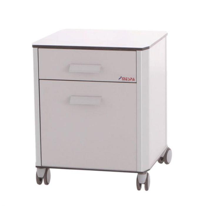 de tiroirs roulante Table alu avec 2 chevet en 4jLq35AR