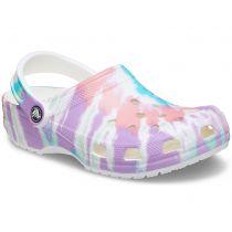 Sabot Crocs Classic Tie Dye Graphic Clog Kids