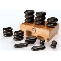 Pierres chauffantes de Basalte pour massage à réflexe ( 22 pièces )
