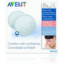 AVENT 6 COUSSINETS LAVABLES