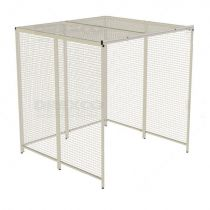 Cage de pouliethérapie à coin d'angle, 8 panneaux