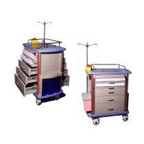 Chariot à médicaments à 5 tiroirs
