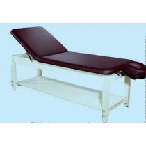 Table de massage stationnaire en bois avec 1 étagère