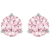 Boucle Solitaire cristal rose