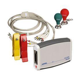 Electrocardiographe AsCARD Coral communication avec un ordinateur par USB