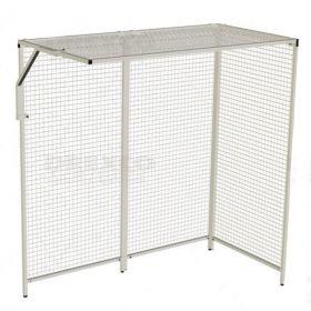 Cage de pouliethérapie à coin d'angle, 4 panneaux