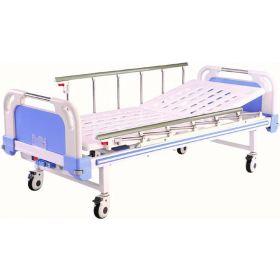 Lit manuel d'hospitalisation 1 position, une manivelle