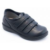 Chaussure pour diabétique cuir - homme et femme Aquitaine Noir