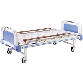 Lit manuel d'hospitalisation 2 positions, deux manivelles